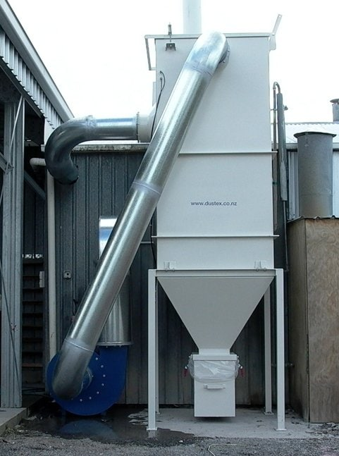 A DUSTEX dust collection system removes the nuisance dust at SGS New Zealand Limited.