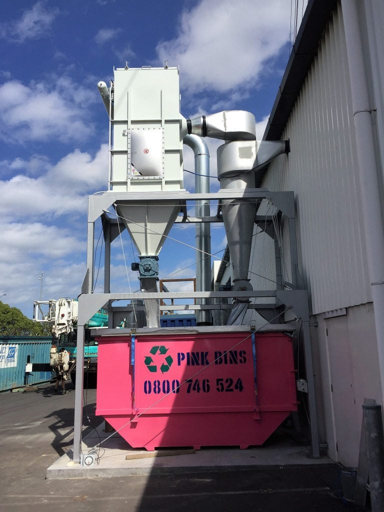 <strong>After:</strong> The new pulse jet dust collector with explosion protection was custom-made to fit alongside the existing cyclone. The improved dust extraction system has significantly freed up labour and space, as well as creating a better working environment.
